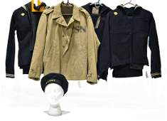 Original WWII to Post-WWII U.S. Navy Uniforms and Hat