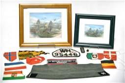 Original WWII German Fighter Plane Paintings, Various