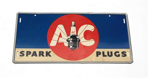 1941 AC Spark Plugs Advertising Sign