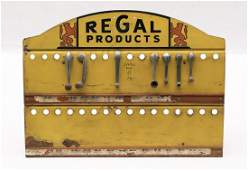 Early Regal Automobile Window Handle Display Sign