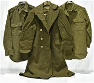 WWII U.S. Army Service Shirts and Overcoat