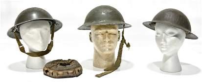 Original WWII Collection of British Helmets