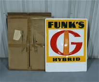 Funk's Hybrid Tin Advertising Sign with Original Box