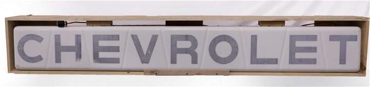 CHEVROLET Mid Century Dealership Lighted Sign