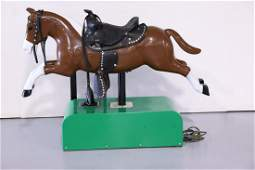Coin-Operated Child's Ride on Sandy Horse