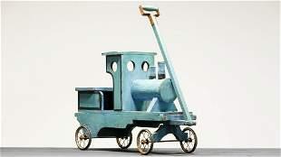 Homemade Locomotive Riding Pull Toy