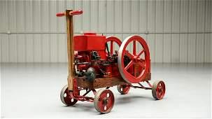 1913 Waterloo Boy 1 1/2-HP Stationary Engine on Cart