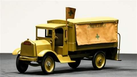 Keystone Packard Army Ambulance Pressed Steel Toy -