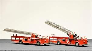 Two Doepke American LaFrance Ladder Truck Pressed Steel