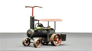 Child's Riding Steam Tractor Push Toy