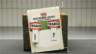 Texaco Gas Station Restroom Key Board 1974