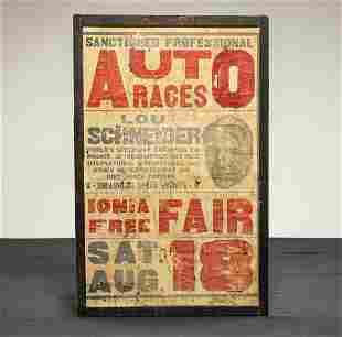 1934 Ionia Free Fair Auto Races with Lou Schneider