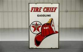Vintage Original 1961 Texaco Fire Chief Porcelain Gas