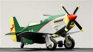 Child's Pedal Airplane in Style of P51 Mustang