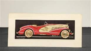 Duesenberg Model J Boattail Speedster Drawing by Car