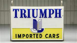 Vintage Original Triumph Imported Cars Double-Sided