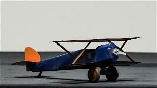 World War I Era Biplane Steel Toy
