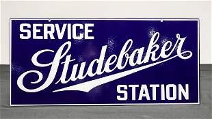 Studebaker Service Station Porcelain Enamel Advertising