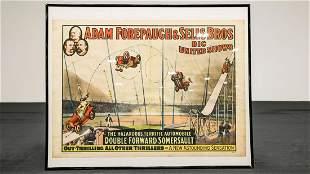 1910s Circus Spinning Car Framed Poster - Reprint