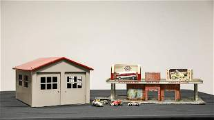 Tin Gas Station, Die-Cast Toys, Schuco Race Cars