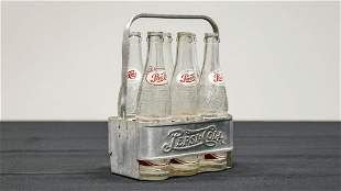 Pepsi-Cola Aluminum Carrier with Bottles