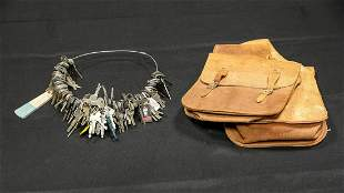 Leather Saddle Bags and Ring of Keys