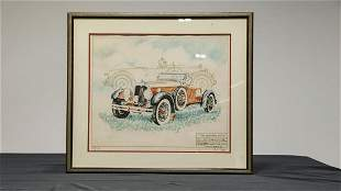 The Legendary Stutz Lithograph by Paul Geygan