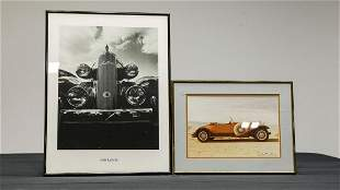 Two Vintage Car Photographs - Packard and LaSalle