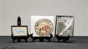 Three Vintage Auto Event Promotional Items