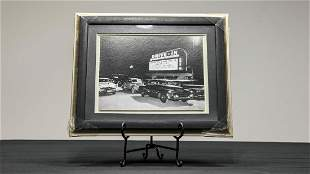 Let's Go See A Drive-In Movie Black & White Photograph