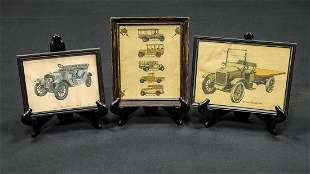 Three Vintage Vehicle Prints