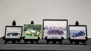 Four Vintage Car Photos