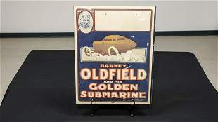 Barney Oldfield and Golden Submarine Poster -