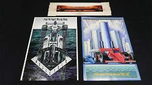 Five Detroit Grand Prix Posters-Print, and 1959