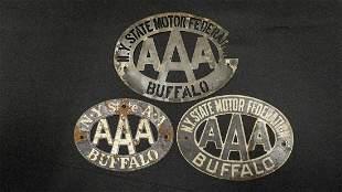 Three Buffalo New York AAA Badges