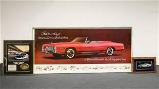 Three Dealership Display Items - Cadillac, Camaro Pace