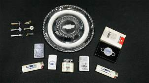Smoking Related Chevrolet Items - Ashtray, Lighters
