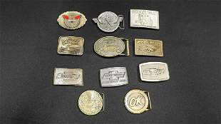 Collection of Chevrolet Related Belt Buckles