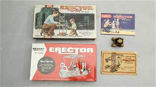1940s-1950s Collection of Two A. C. Gilbert Erector