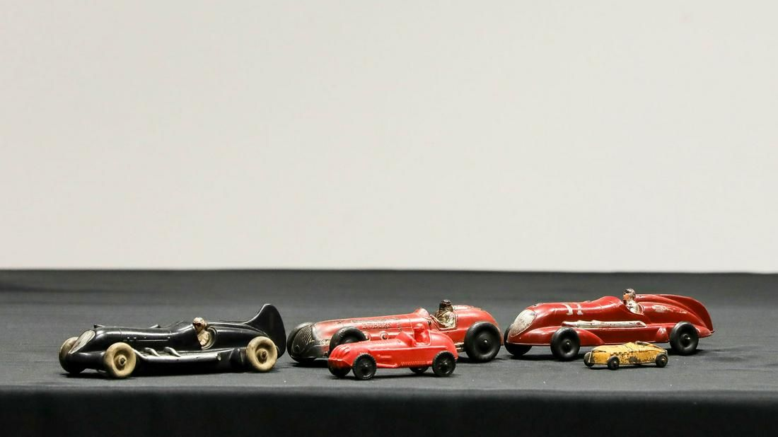 Lot of 4 Vintage Rubber Auburn Speed Racer Toy Cars