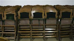 Antique, Early 1900s Theatre/Opera Three Seat Bench,