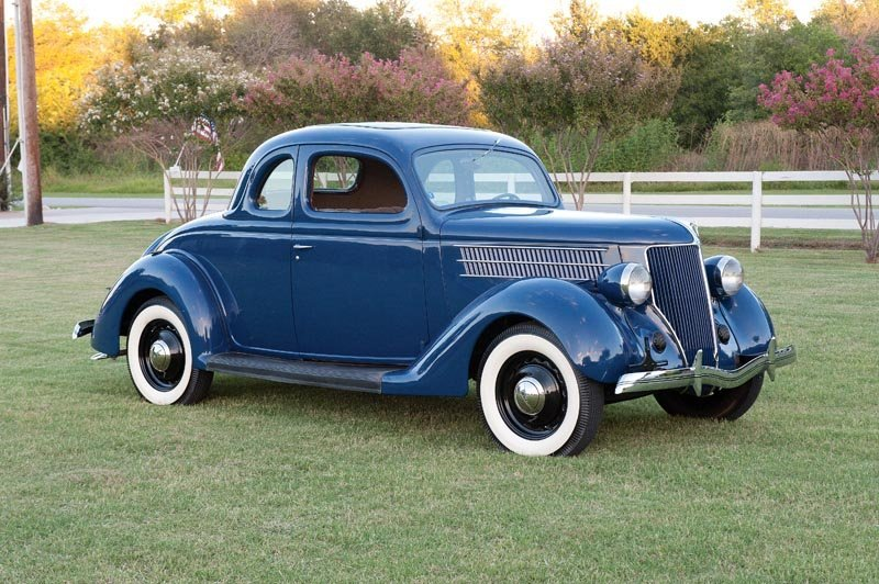 12: 1936 Ford  Five-Window Coupe