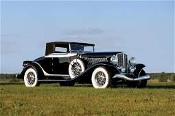 135: 1934 Auburn 12 Salon Cabriolet