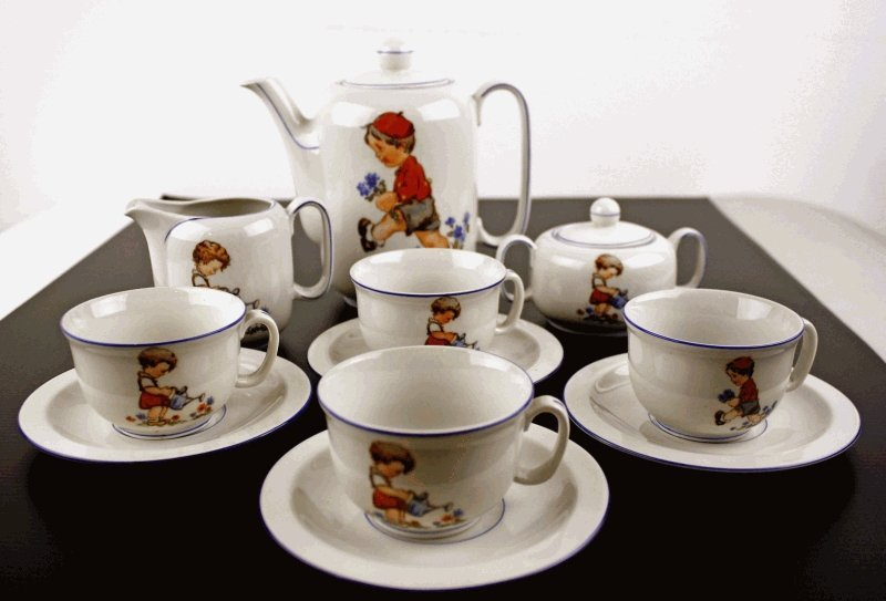 1: Kinder Porzellan-Service