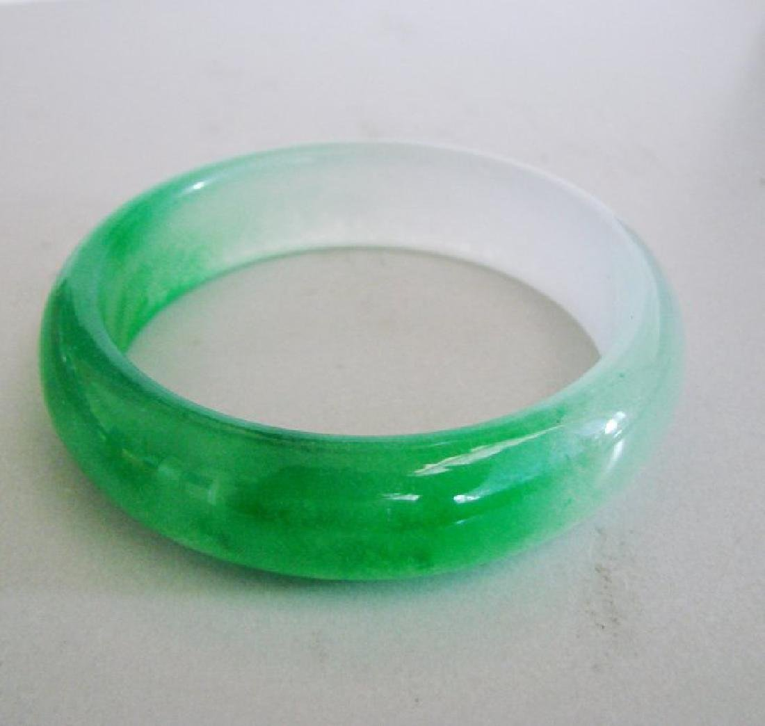 Natural  Chinese Jadeite Jade Bangle Grade B Size:7.75
