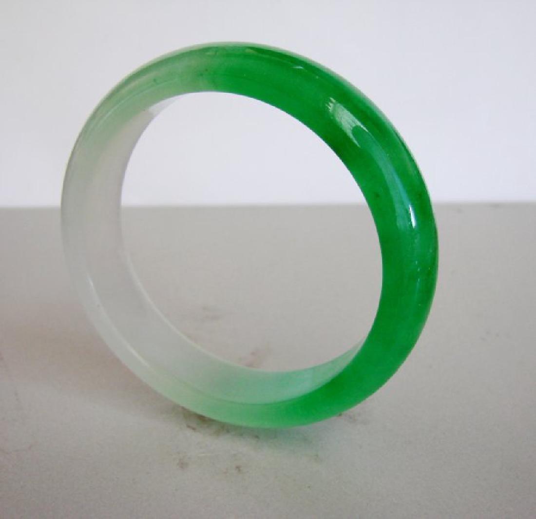 Natural  Chinese Jadeite Jade Bangle Grade B Size:7.75 - 3