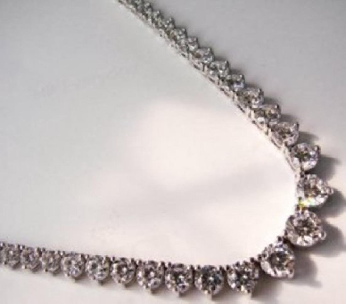 Necklace Diamond Creation 20.00Ct 18k W/g Overlay - 2