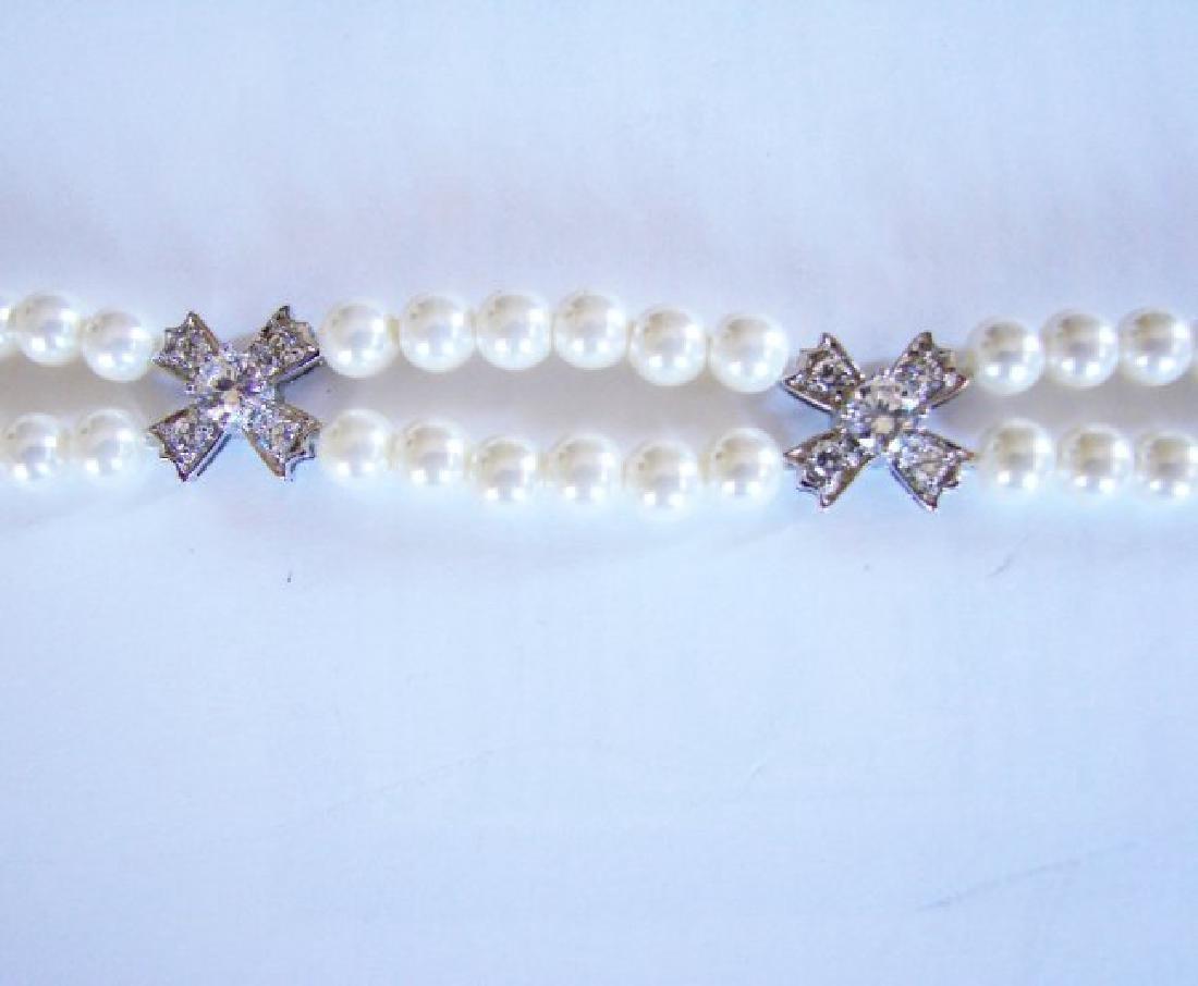 Bracelet Pearl Diamond Creation 4.65Ct 18k W/g Overlay - 2