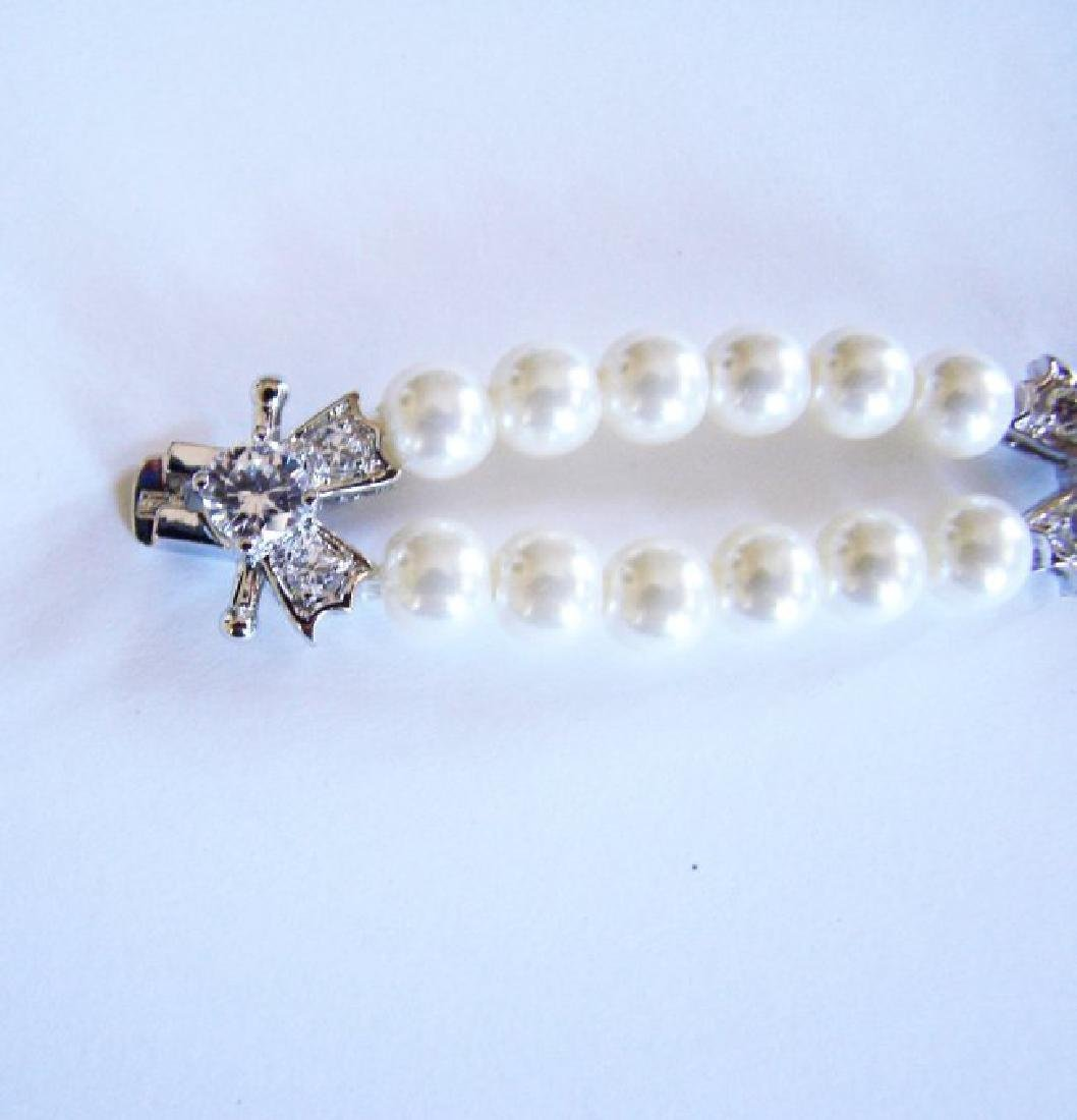 Bracelet Pearl Diamond Creation 4.65Ct 18k W/g Overlay - 4