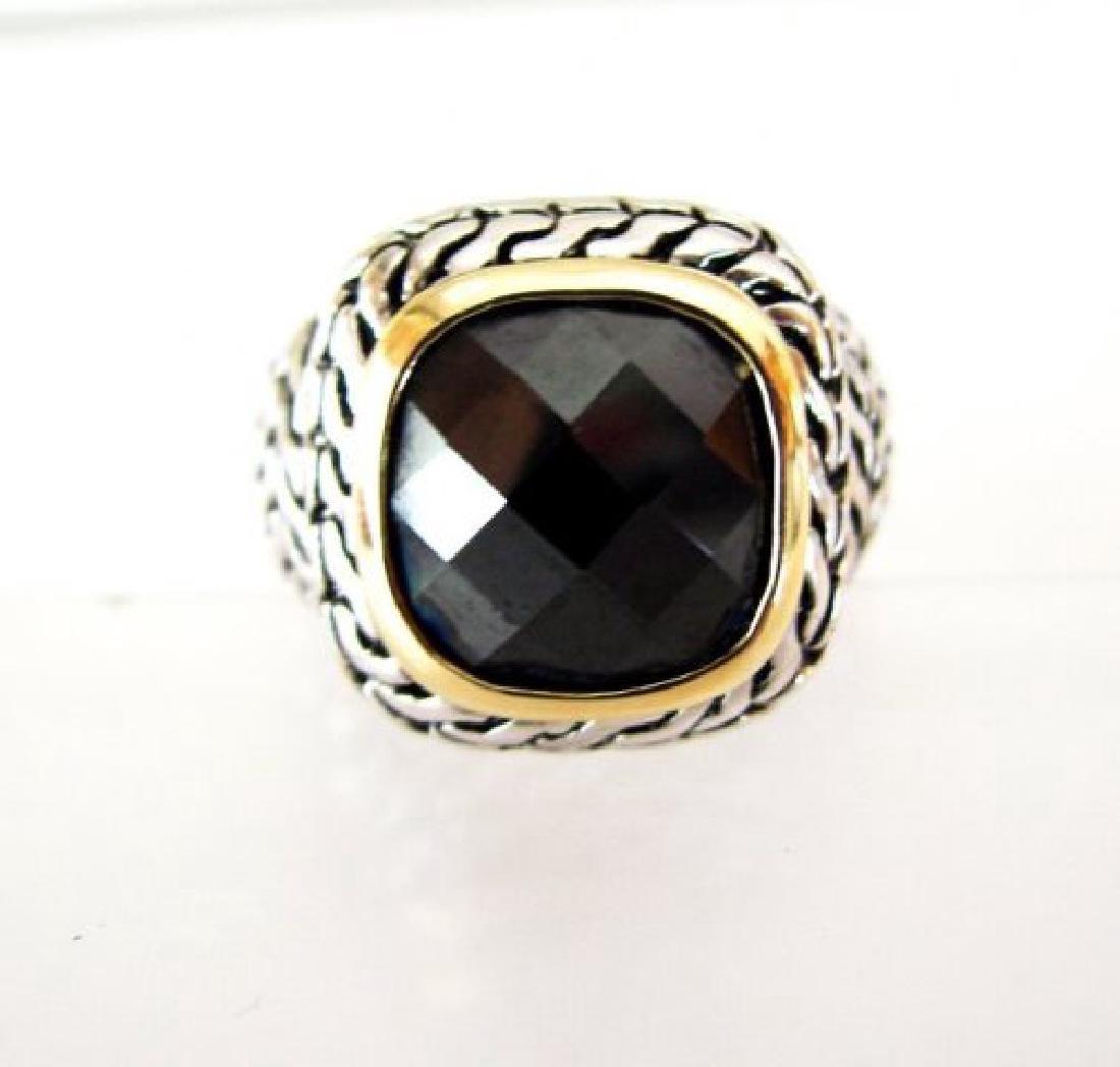 Men Ring Creation Diamonds 9.20Ct 18k W/Y/g Overlay